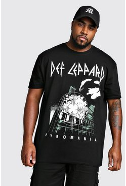 Mens Black Big And Tall Def Leppard License T-Shirt
