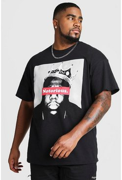 Black Big And Tall Notorious BIG License T-Shirt