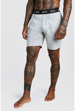 Grey MAN Dash Lounge Shorts