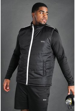 Black Big And Tall MAN Active Gilet