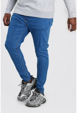 Mid blue Big And Tall Super Skinny Jean