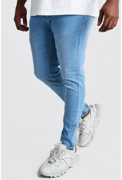 Big And Tall Super Skinny Jeans, Hellblau