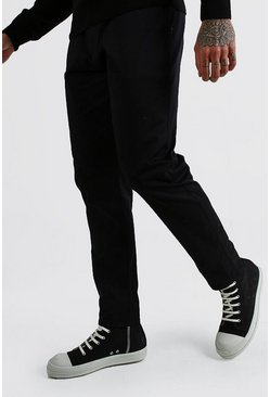 Black Skinny Fit Chino Trouser