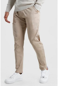 Beige Skinny Fit Chino Trouser