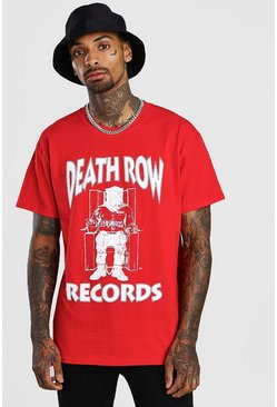Red Deathrow License Print T-Shirt