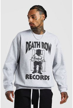 Grey Death Row License Sweatshirt