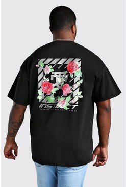 Mens Black Big And Tall Instinct Floral T-Shirt