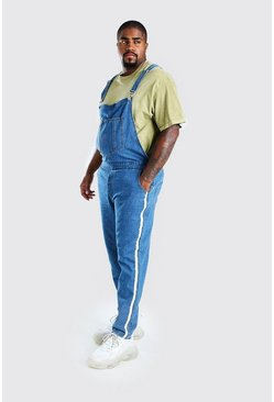 Mid blue Big And Tall Side Tape Overall