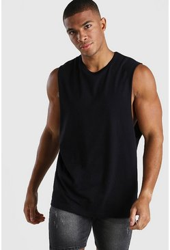 Black Drop Armhole Tank