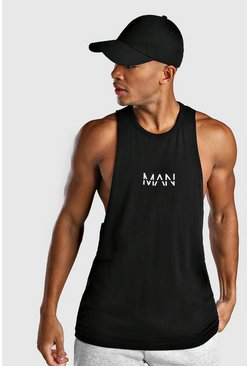 Black Original MAN Racer Back Tank