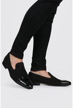 Black Patent Toe Cap Loafer