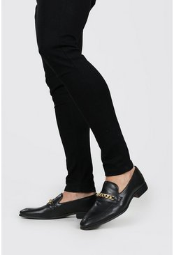 Gold Chunky Chain Loafer