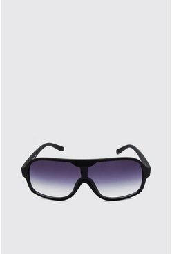 Black Tinted Lens Rectangular Sunglasses