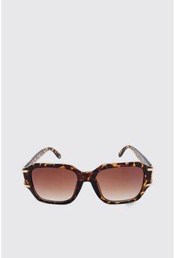 Brown Metal Arm Detail Sunglasses