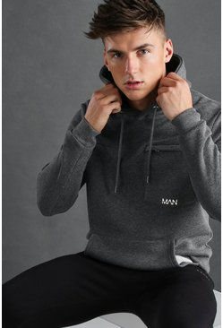 Charcoal MAN Active Hoodie With Seam Detail