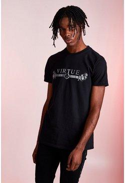 Black Virtue Foil Print T-Shirt