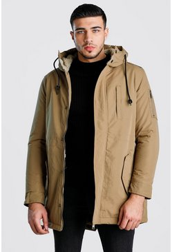 Tobacco Borg Lined Hood Parka