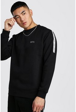 Black Original MAN Tape Sweatshirt