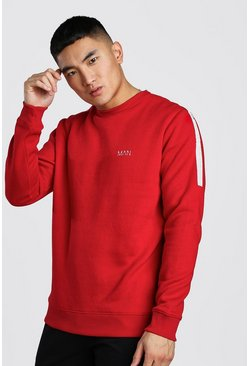 Red Original MAN Tape Sweatshirt