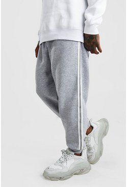 Grey marl Loose Fit Jogger With Side Tape