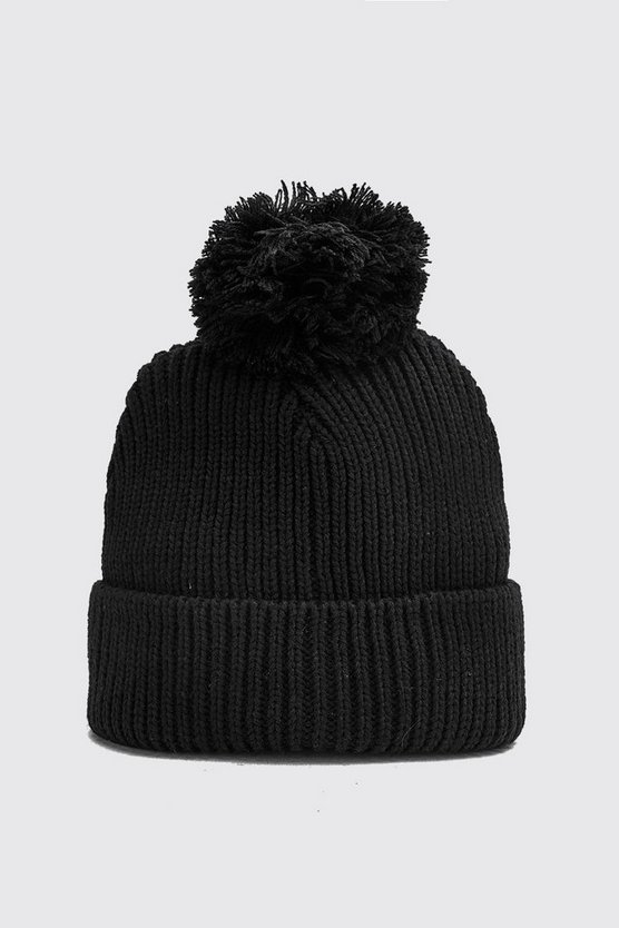 Bobble Beanie Hat by Boohoo Man