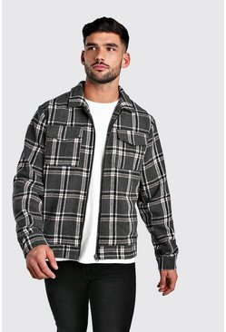 Grey Check Coach 2 Pocket Jacket