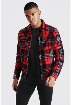 Red Check Coach 2 Pocket Jacket