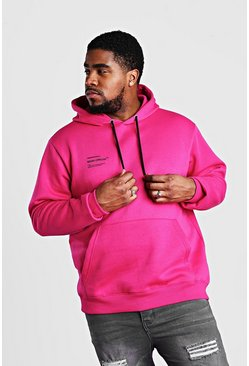 Big & Tall MAN Official Hoodie mit Print, Rosa