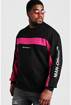 Big & Tall MAN Official Pullover, Schwarz