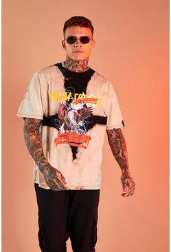 Black MAN Official Oversized Bleached T-Shirt