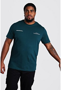 Teal Big & Tall MAN Official Printed T-Shirt