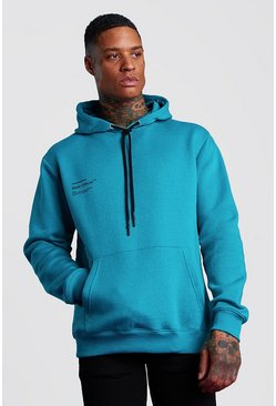 Teal MAN Official Front And Back Printed Hoodie