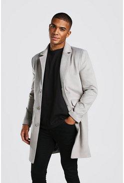 Light grey Wool Look Overcoat
