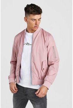 Pale pink MA1 Bomber Jacket