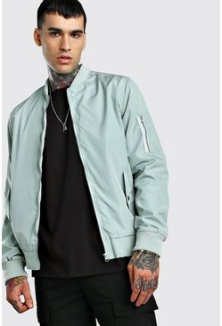 Pale green MA1 Bomber Jacket