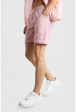 Pink Nylon Pocket Shorts
