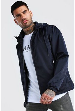 Navy Zip Through Cagoule