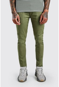 Khaki Super Skinny Stretch Chino Trouser