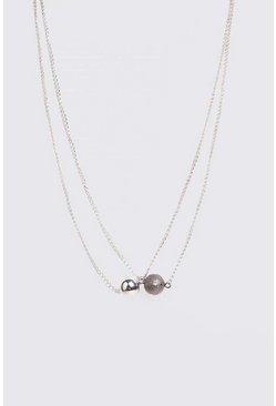 Silver Ball Pendant Necklace
