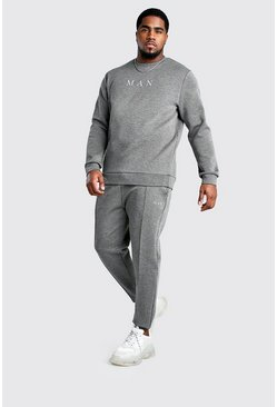 Charcoal Big And Tall MAN Sweater and Jogger Set