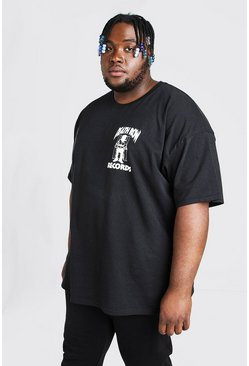 Mens Black Big And Tall Death Row Records T-Shirt