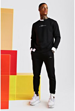 Black Man Signature Multi Colour Block Tracksuit