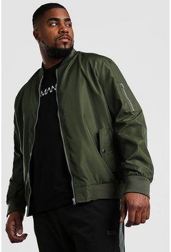 Khaki Big And Tall MA1 Bomber Jacket