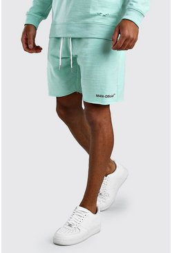 Mint Loose Fit Man Official Raw Hem Short