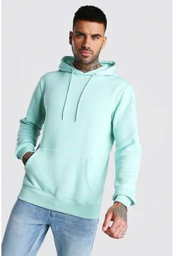 Mint Basic Over The Head Fleece Hoodie