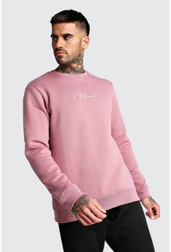 Mauve MAN Signature Embroidered Sweatshirt