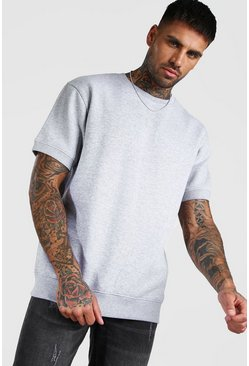 Grey Short Sleeve Sweatshirt