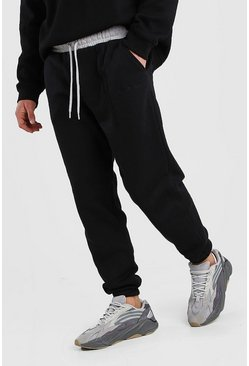 Black His Loose Fit Jogger With Contrast Waistband