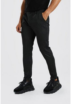 Black Pinstripe Skinny Fit Trouser