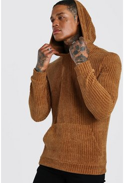 Tan Chenille Over The Head Hoodie